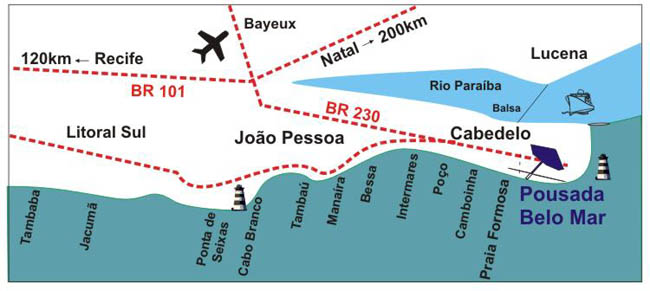 Pousada Belo Mar Localizacao